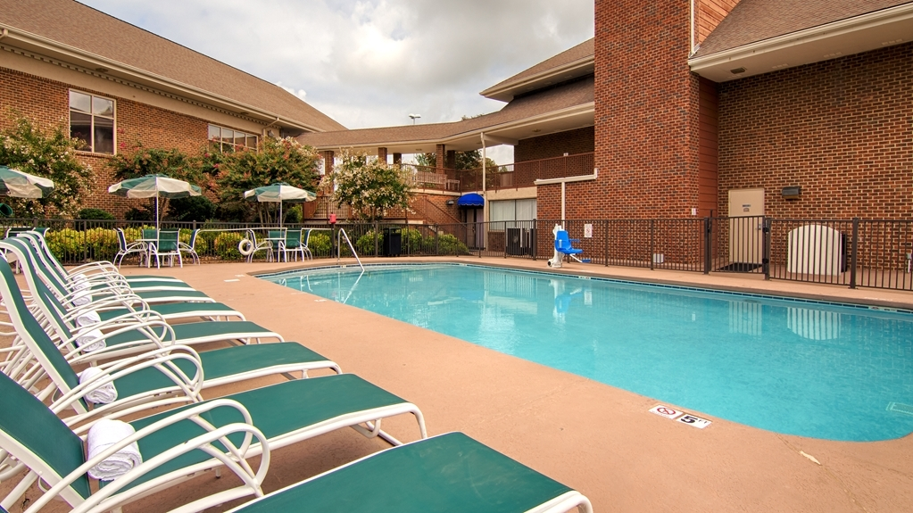 Best Western Plus Morristown Conference Center Hotel - Relax in a chaise and catch some rays on the pool deck. Our pool is open seasonally Memorial Day through Labor Day.