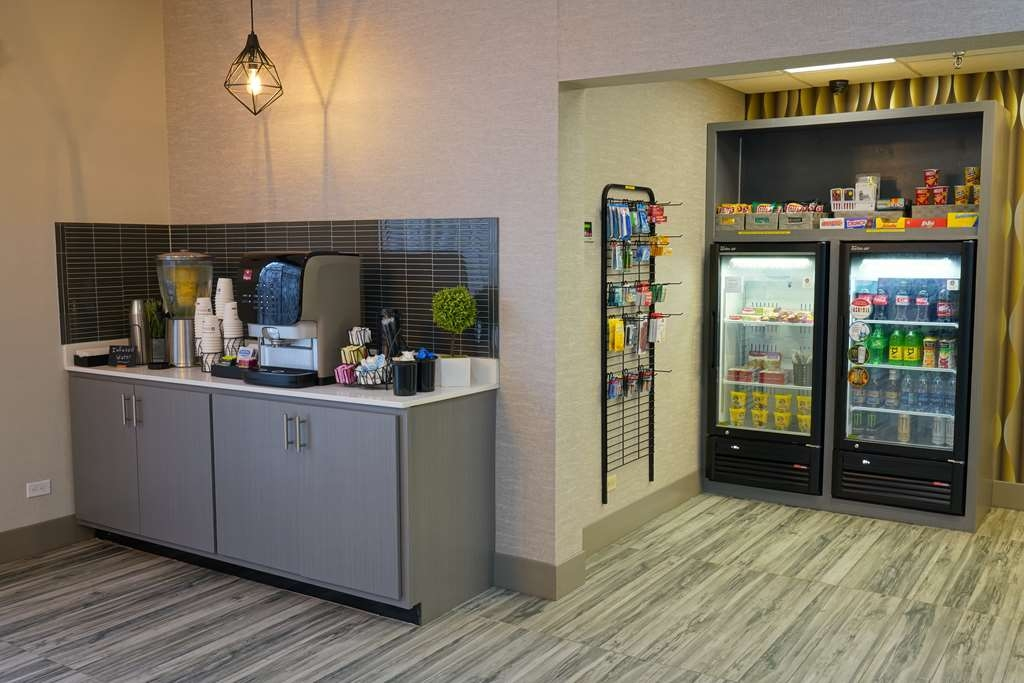 Best Western Plus Morristown Conference Center Hotel - Coffee, hot tea, and infused water are available 24/7 in our beverage center. Or purchase a snack from our Sundry Shop.