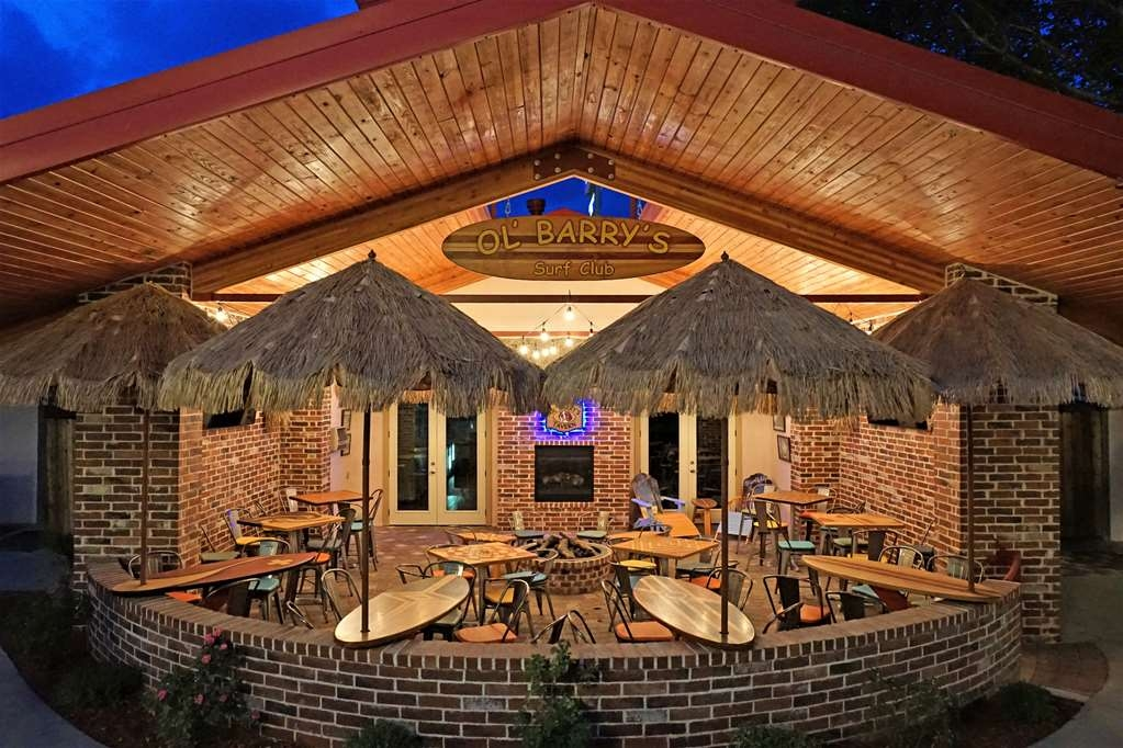 "Best Western Swiss Clock Inn - Ol' Barry's Tavern and Surf Club is open most days 11-11. Enjoy our outdoor area with 70"" TV's and fire Pit."