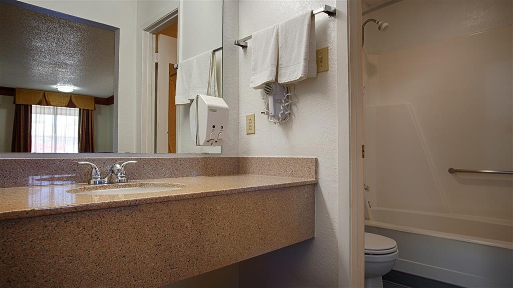 Best Western Decatur Inn - Our bathrooms have all the amenities you need to get ready for a fun day of adventure!