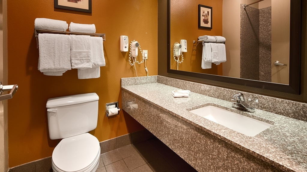 Best Western Inn & Suites - Enjoy getting ready for the day in our fully equipped guest bathrooms.