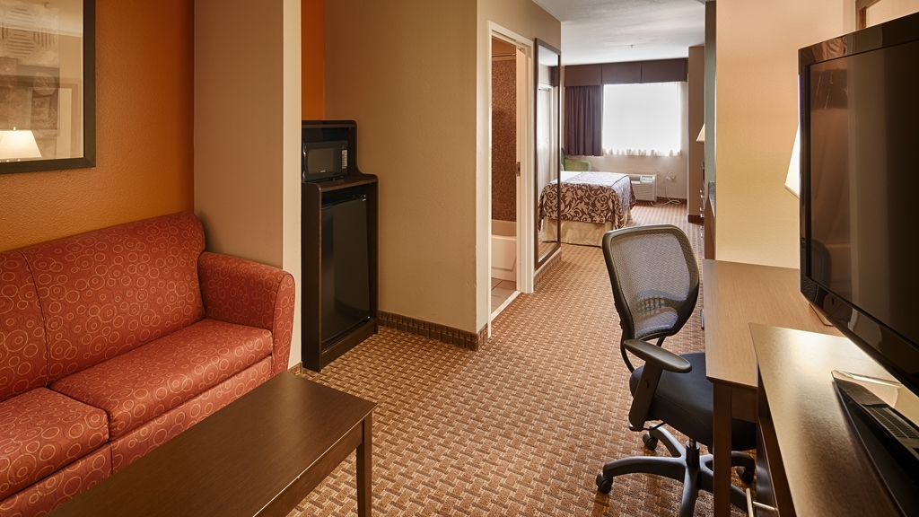 Best Western Inn & Suites - If you're bringing an extra guest along make a reservation in our suite king room featuring a sofa bed.