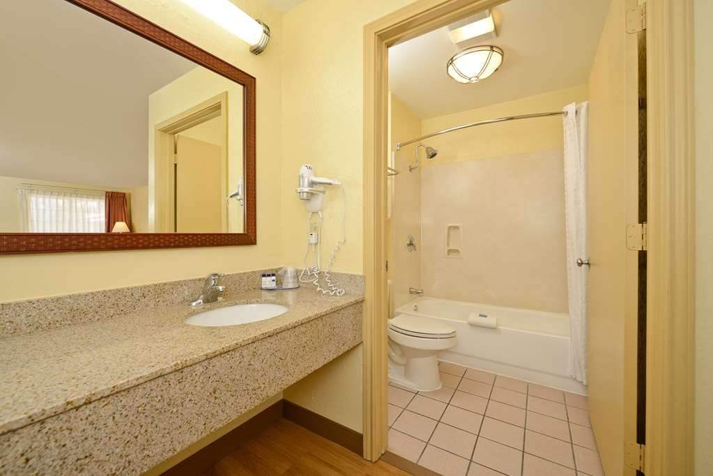 Best Western Port Aransas - All guest bathrooms have a large vanity with plenty of room to unpack the necessities.