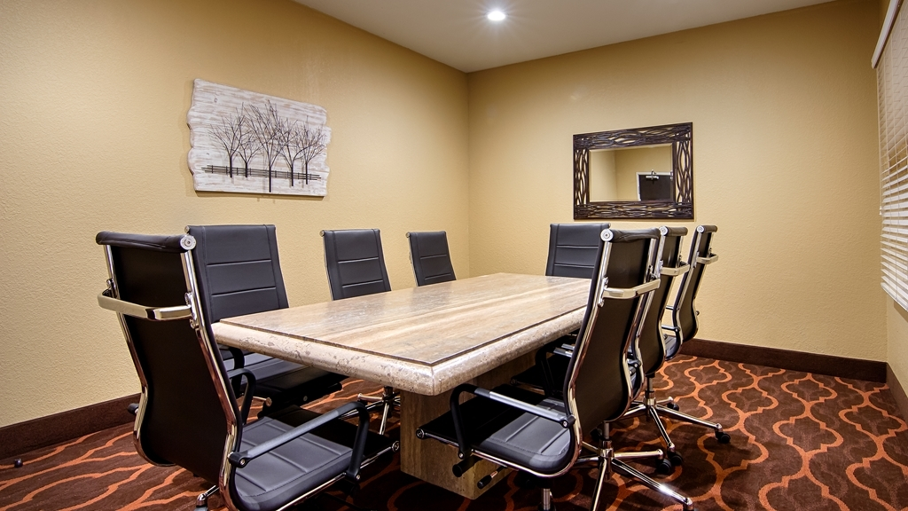 Best Western Plus DFW Airport Suites - Our Boardroom is ideal for meetings up to eight guests, situated in a classic business format.