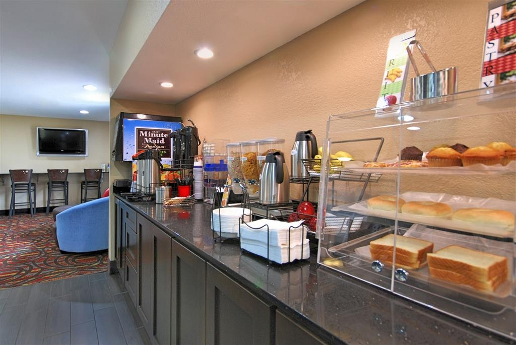 Best Western Cedar Inn - Our full hot breakfast includes your choice of a variety of eggs, sausage, biscuits, hot waffles, pastries and more.