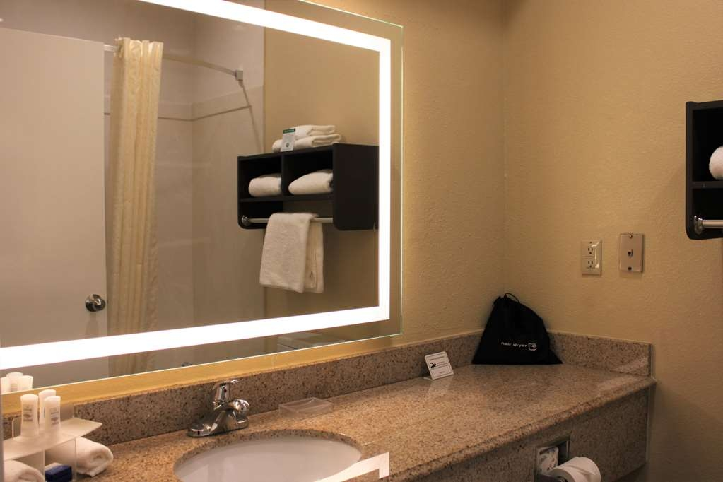 Best Western Plus North Houston Inn & Suites - All guest bathrooms have a large vanity with plenty of room to unpack the necessities.