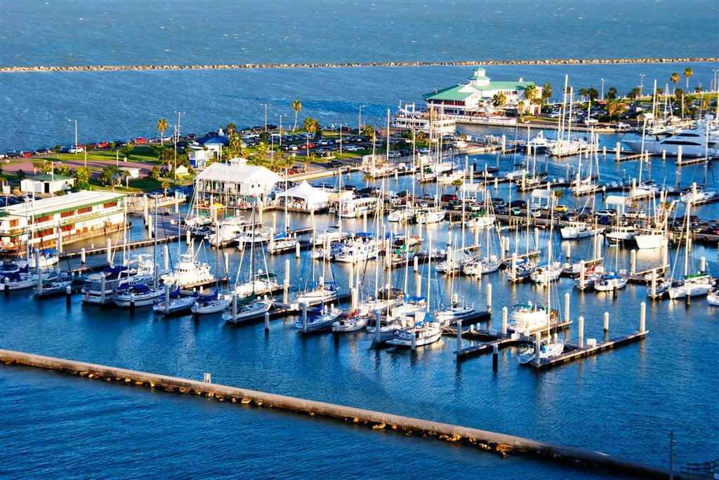 Best Western Corpus Christi - This is our roof top view to the marina.