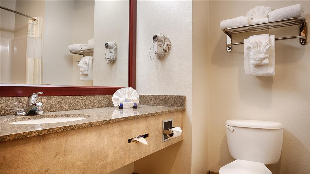 Best Western Club House Inn & Suites - All guest bathrooms have a large vanity with plenty of room to unpack the necessities.
