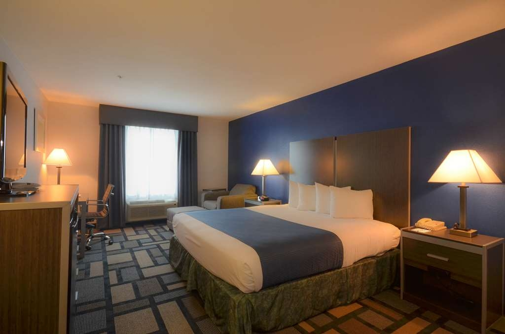 Best Western Galleria Inn & Suites - Room like a king! Our single bed rooms feature a king sized bed and all the standard amenities!