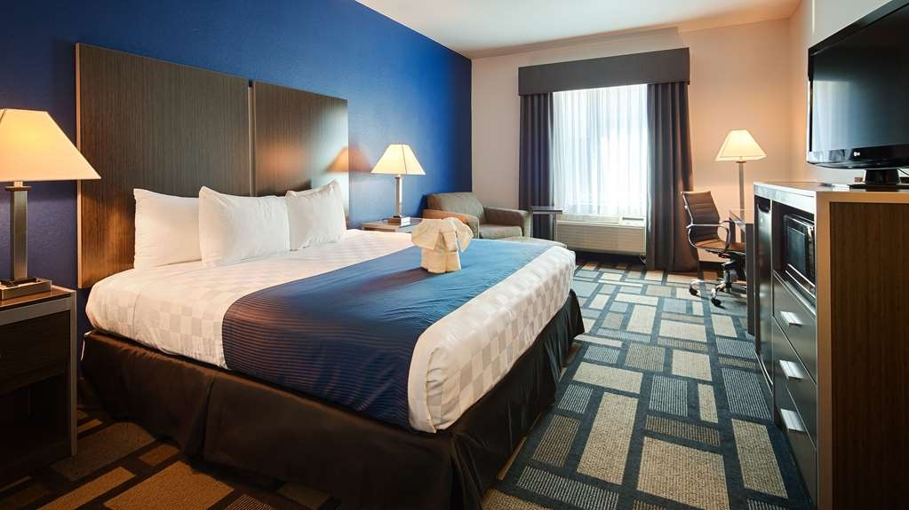 Best Western Galleria Inn & Suites - Our standard, single king guest room is perfect for a layover, extended stay or weekend getaway.