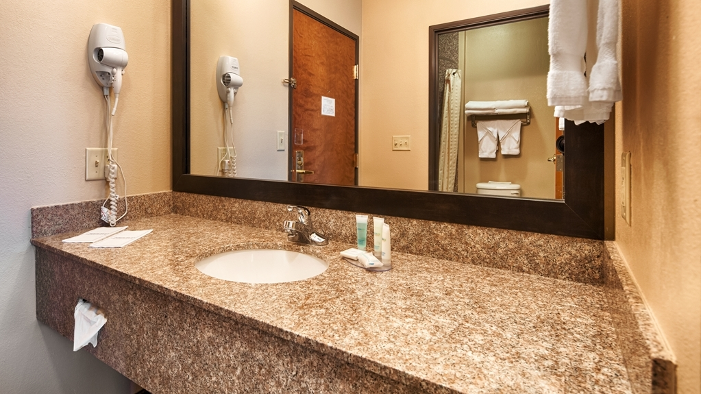 Best Western Plus Red River Inn - All guest bathrooms have a large vanity with plenty of room to unpack the necessities.