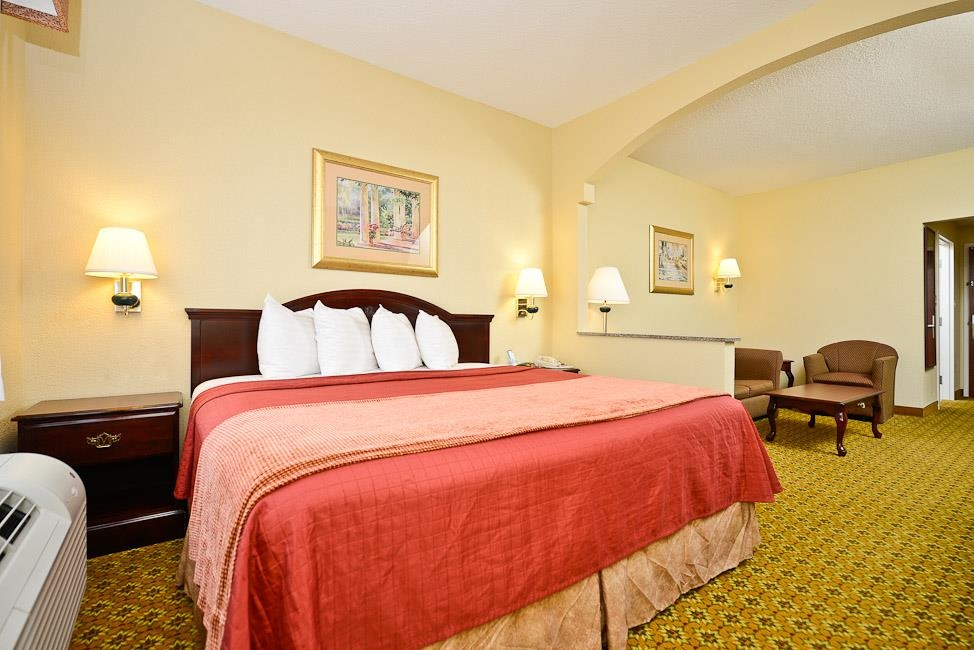 Best Western Dayton Inn & Suites - Our spacious king bed suite has all the comforts of home at your fingertips.