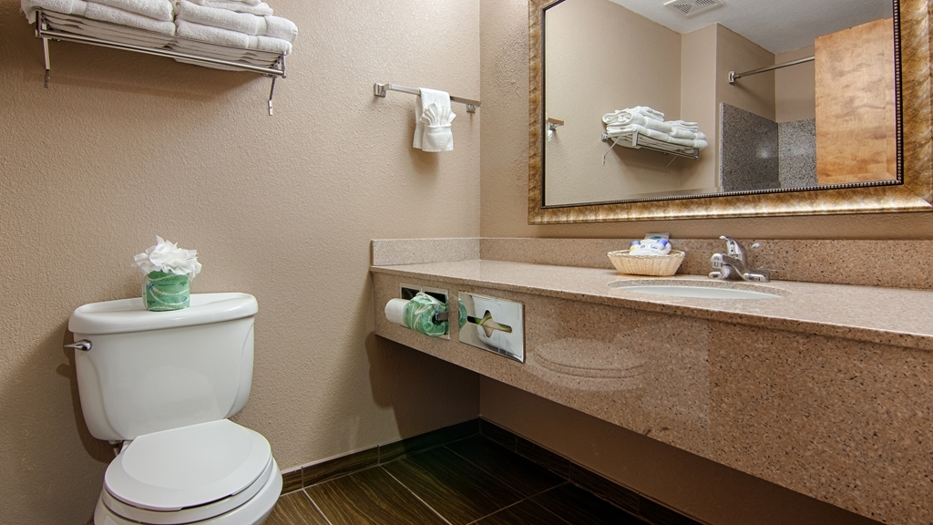 Best Western Dayton Inn & Suites - Enjoy getting ready for a day of adventure in this fully equipped guest bathroom.