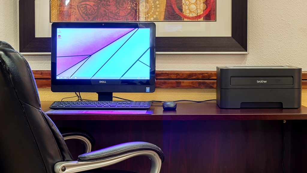 Best Western Dayton Inn & Suites - Business travelers can get work done, charge portable devices, and have a hardwire connection to the Internet.