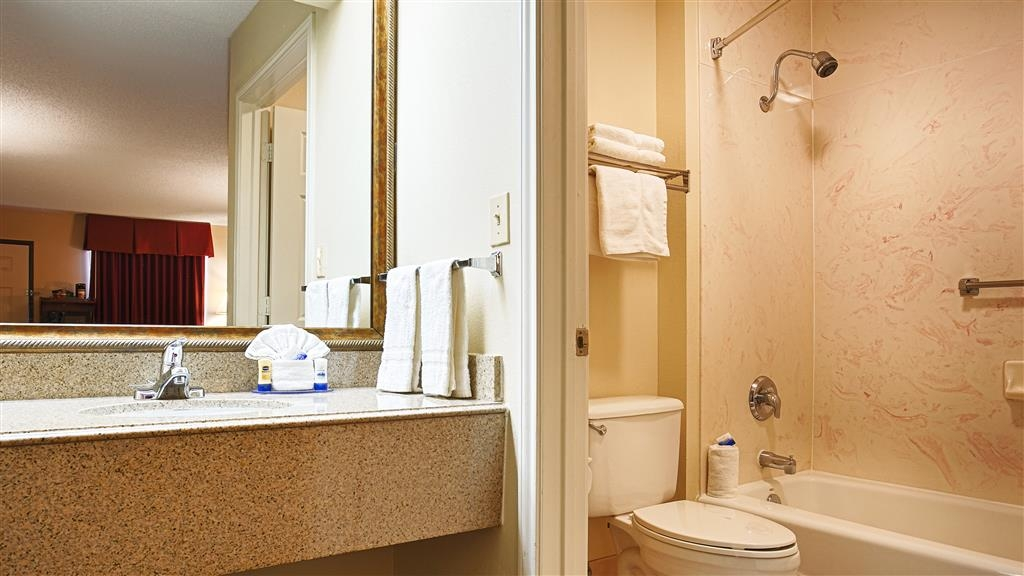 Best Western Lindale Inn - Forgot Shampoo? Don't worry we have you covered, complimentary conditioning shampoo, body wash and lotion are provided in the room.