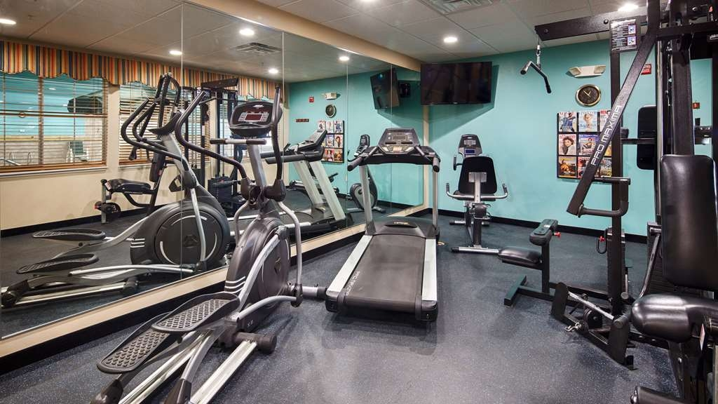 Best Western Plus Monahans Inn & Suites - Our fitness center is equipped with a treadmill, elliptical machine, bicycle, weight machine and magazine rack.