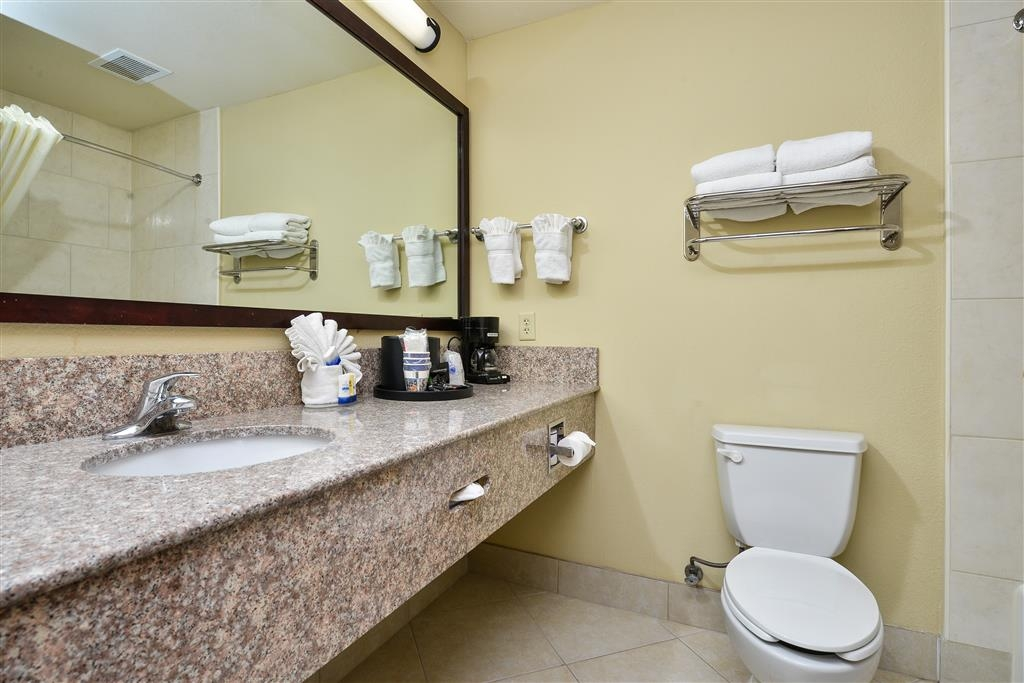 Best Western Plus Mansfield Inn & Suites - Get ready for a day full of adventure in our guest bathroom.