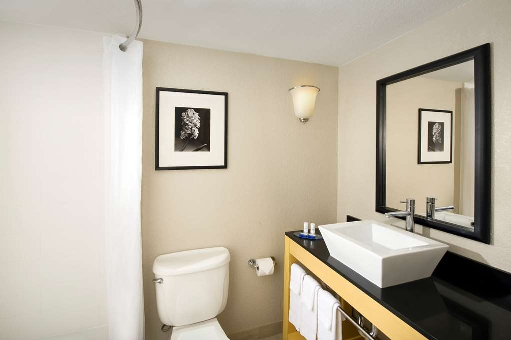 Best Western Alamo Suites - All guest bathrooms have a large vanity with plenty of room to unpack the necessities.