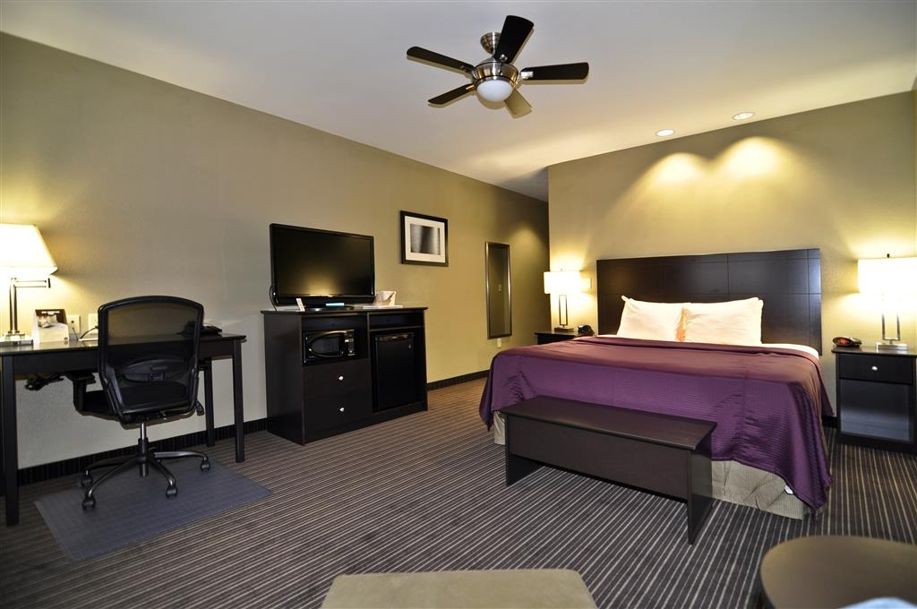 Best Western Giddings Inn & Suites - This king guest room is equipped with a microwave and a refrigerator for your snacking needs.