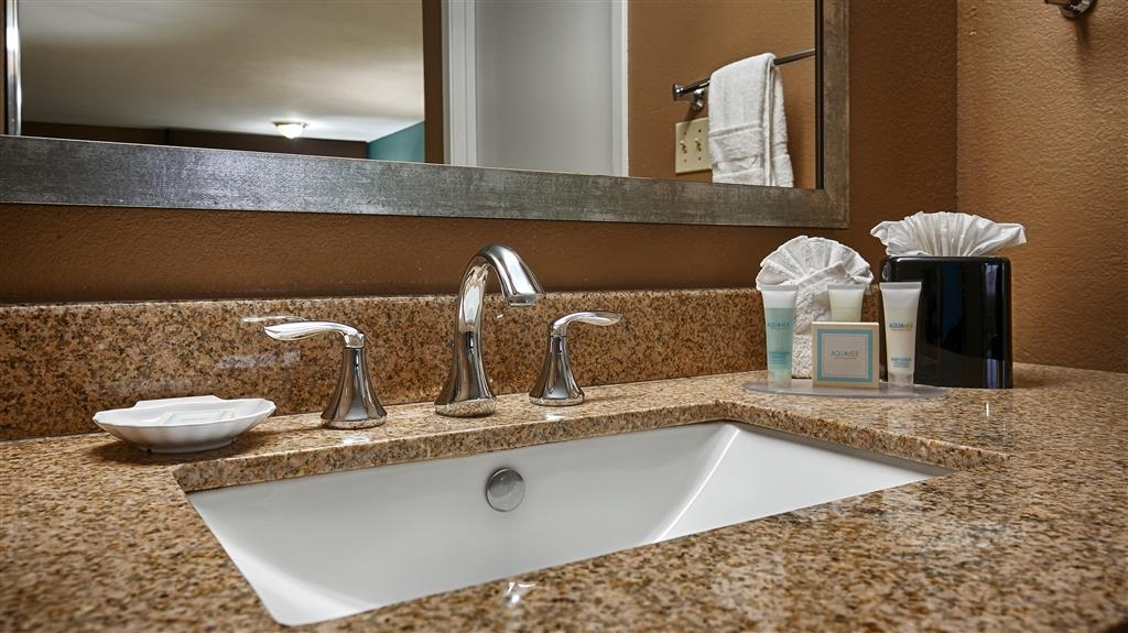 Best Western Huntsville Inn & Suites - All guest bathrooms have a large vanity with plenty of room to unpack the necessities.