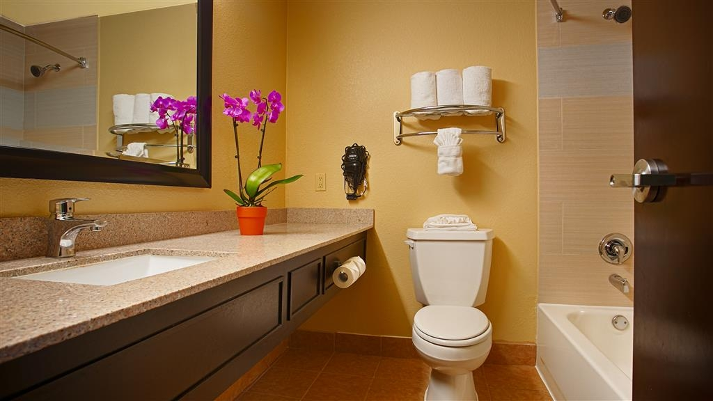 Best Western Plus Addison/Dallas Hotel - Enjoy getting ready for the day in our fully equipped guest bathrooms.