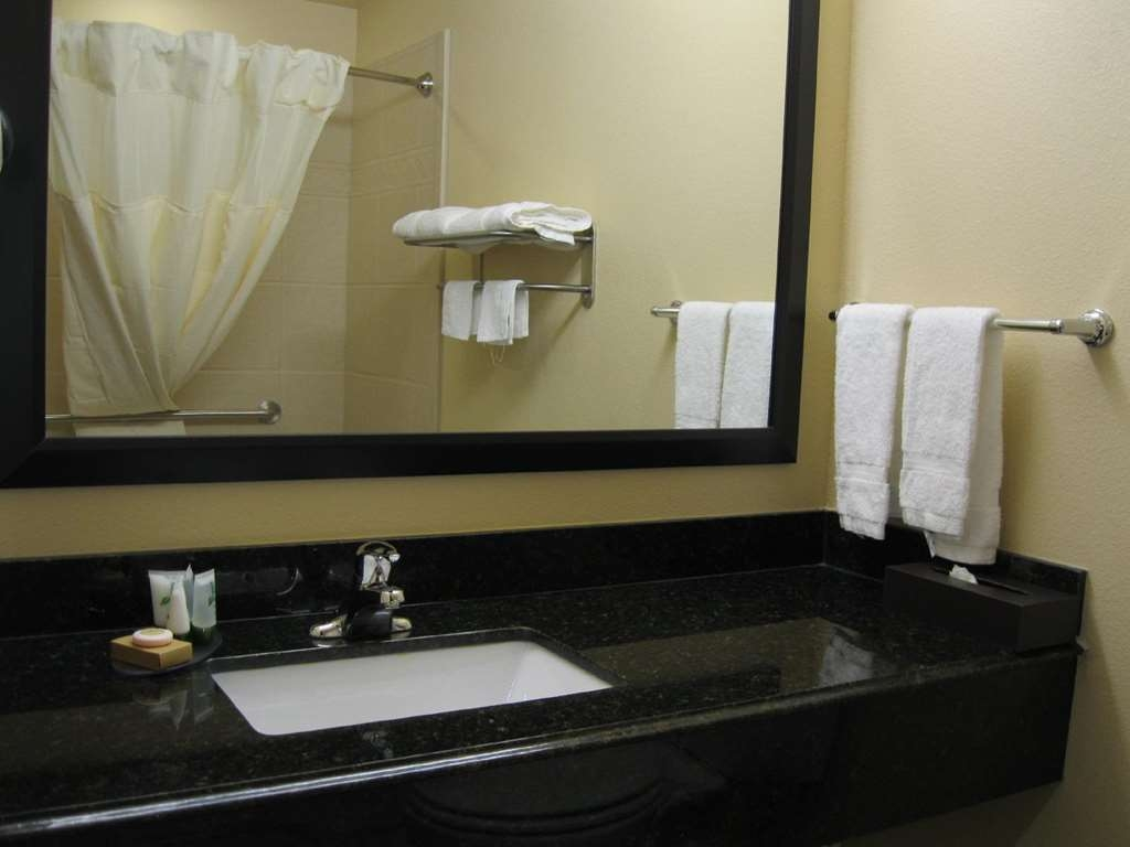 Best Western Plus Goliad Inn & Suites - All guest bathrooms have a large vanity with plenty of room to unpack the necessities.