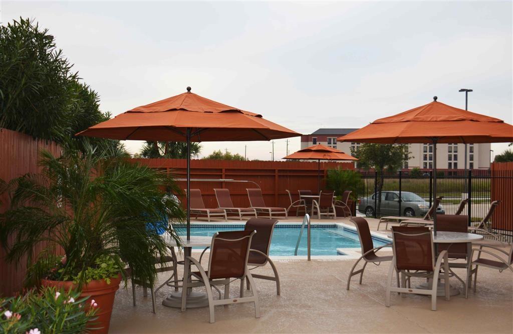 Best Western Plus Hobby Airport Inn & Suites - Notre piscine extérieure est l'endroit parfait pour se détendre, que vous souhaitiez vous prélasser au bord ou plonger dedans.