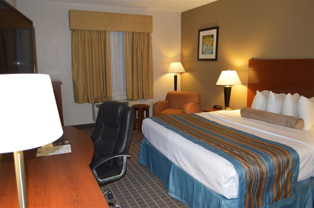 Best Western Orange Inn & Suites - This king guest room is equipped with a microwave and a refrigerator for your snacking needs.