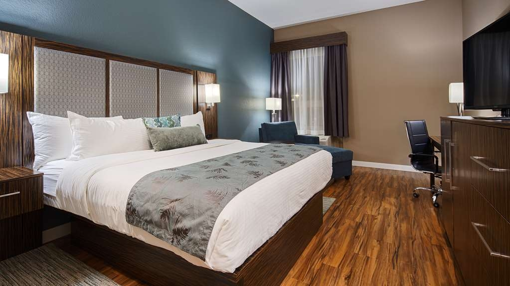 Best Western Plus Pflugerville Inn & Suites - This King guest room is perfect for a layover, extended stay or weekend getaway.