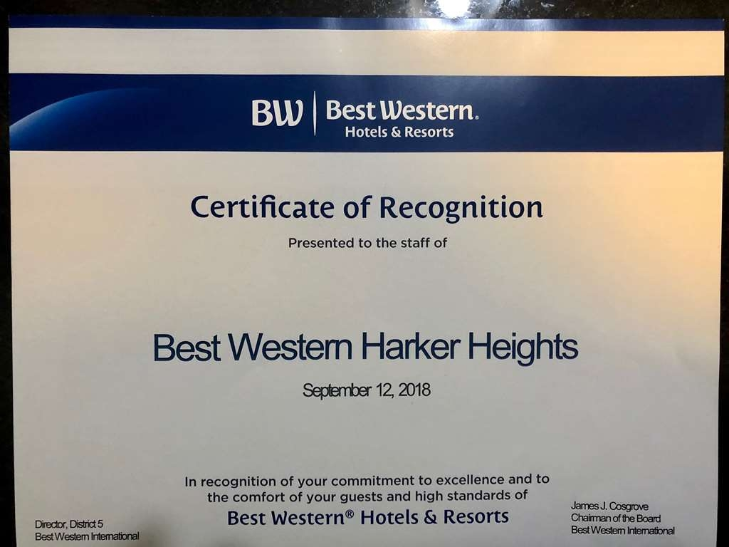 Best Western Harker Heights - No establecido