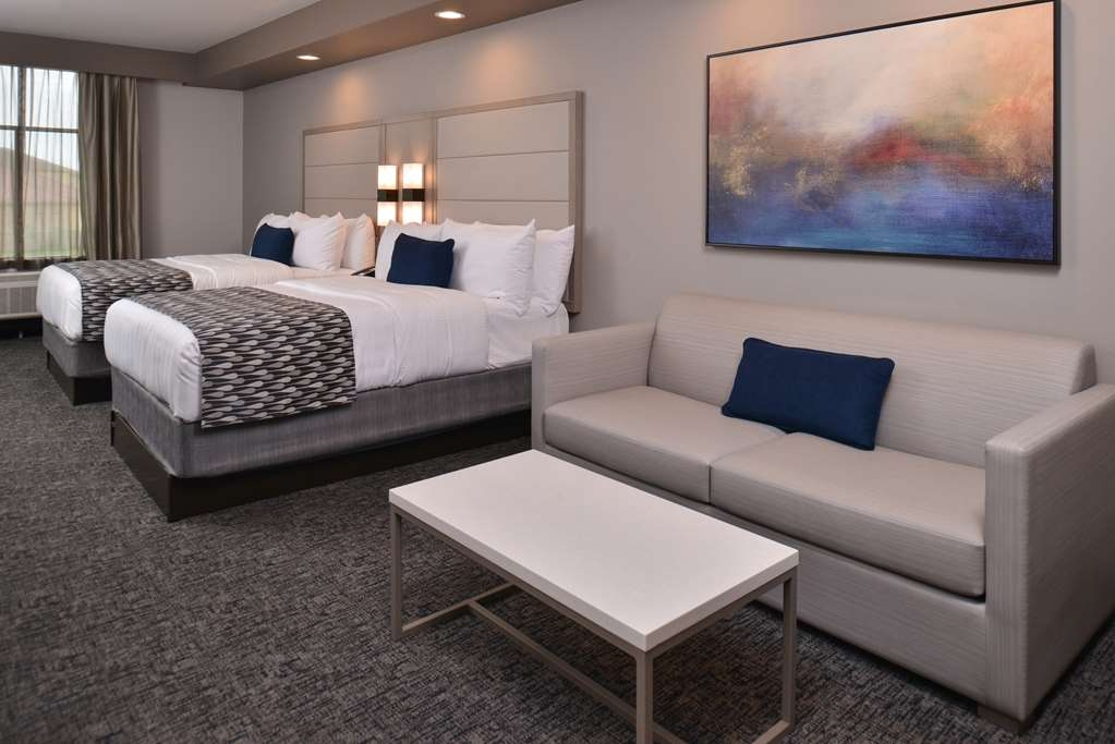 Best Western Premier Energy Corridor - Two Queen Beds Suite and a pullout sofa sleeper in separate living room