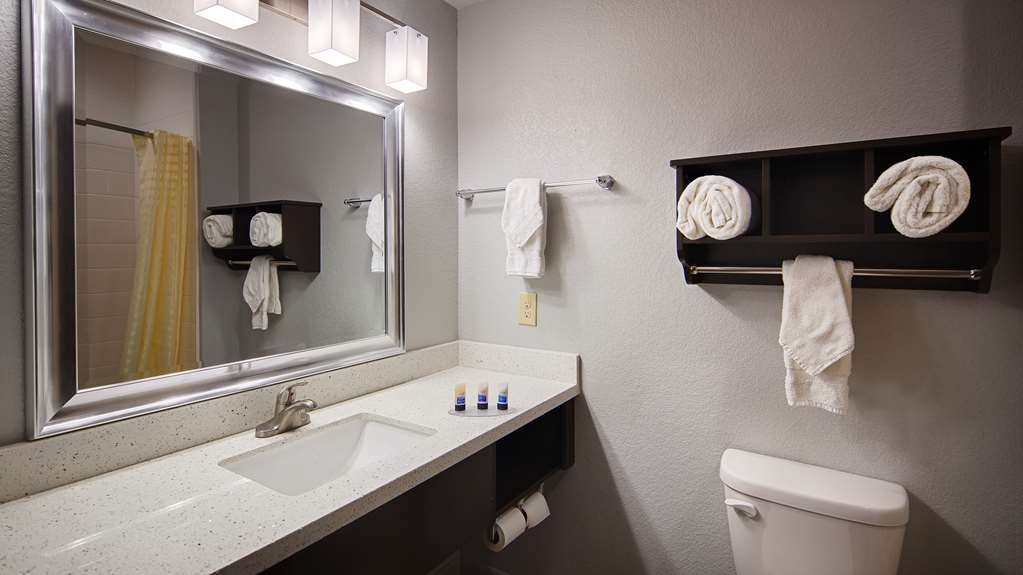 Best Western Plus Lonestar Inn & Suites - All guest bathrooms have a large vanity with plenty of room to unpack the necessities.