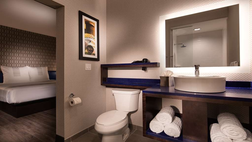 GLo Best Western DeSoto Dallas - From stylish bath amenities to floating vanities get ready in our new bathrooms.