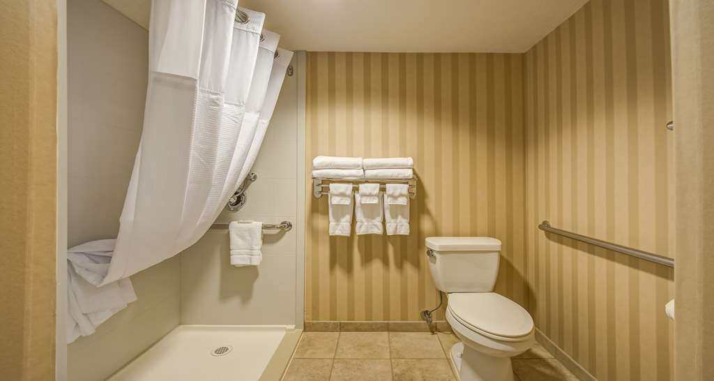 Best Western Plus Canyonlands Inn - Our mobility accessible bathrooms features roll-in shower with grab bars.