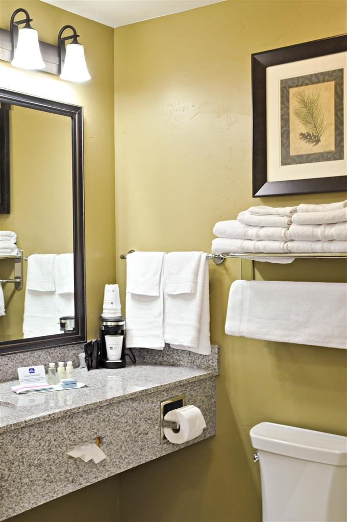 Best Western Plus Layton Park Hotel - Our sparkling clean bathrooms come stocked with amenities you need.