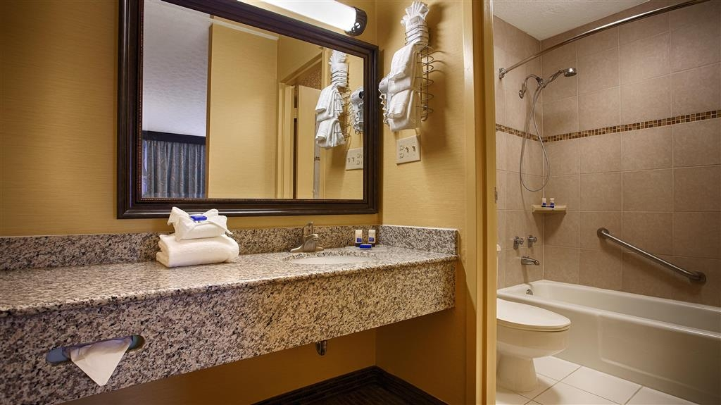 Best Western Fredericksburg - Enjoy our newly installed granite, and tile bathrooms and vanities.