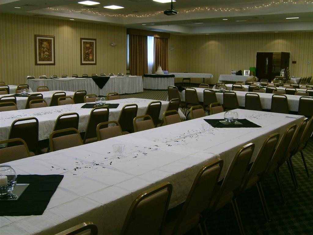 Best Western Plus Crossroads Inn & Suites - The Jefferson Room is a large flexible space with audio/visual equipment. Great for any event including receptions conferences banquets and much more!