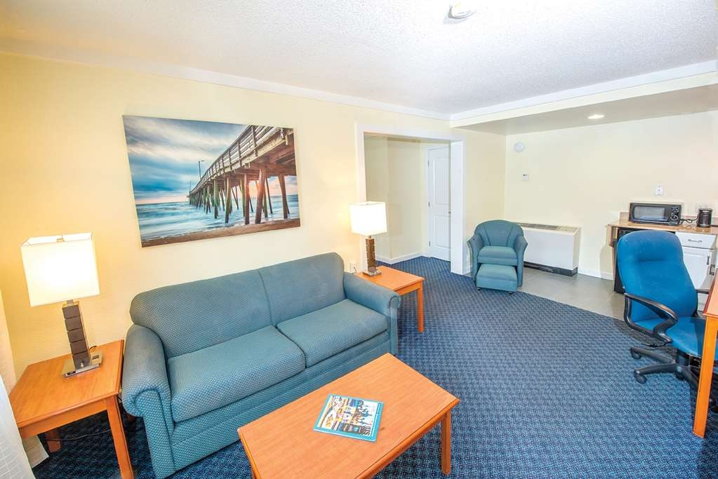Best Western Plus Virginia Beach - Our parlor suites offer 1 queen bed and are located in our non-oceanfront building, located across the street from the main hotel.