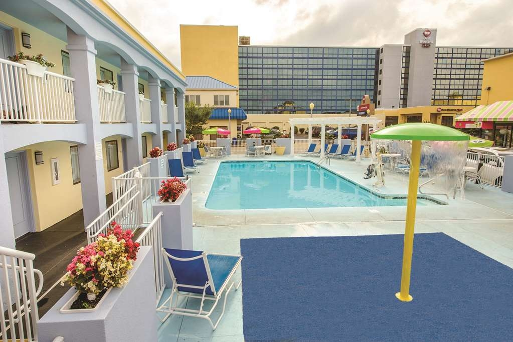 Best Western Plus Virginia Beach - Outdoor Pool & NON-OCEANFRONT building which is located across the street from the main oceanfront building.