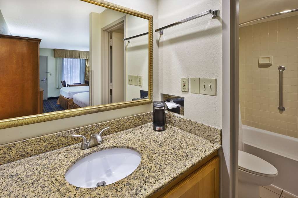 Best Western Dulles Airport Inn - All guest bathrooms have a large vanity with plenty of room to unpack the necessities.