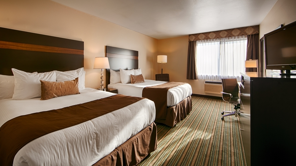 Best Western Alderwood - Come stay in our spacious standard queen rooms and sleep in our new Simmons Beautyrest® Mattresses with memory foam.