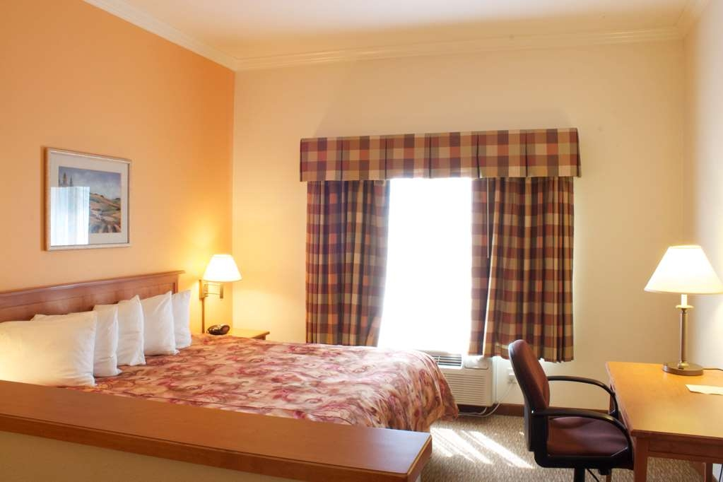 Best Western Plus Grapevine Inn - Guest room features a king bed with duvet cover and work desk.