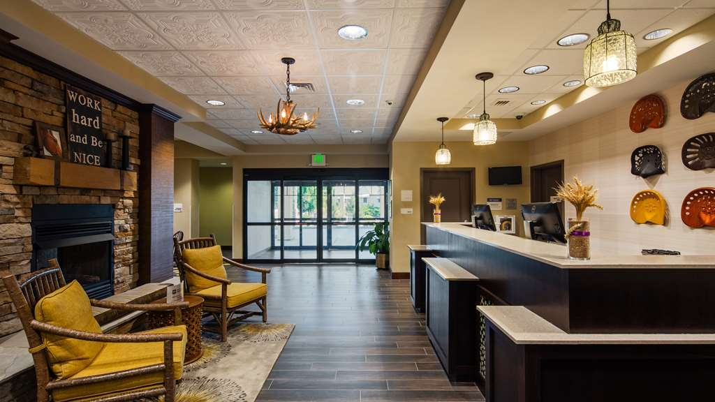 Best Western Plus Dayton Hotel & Suites - Our lobby is like none other with a nod to the surrounding area.