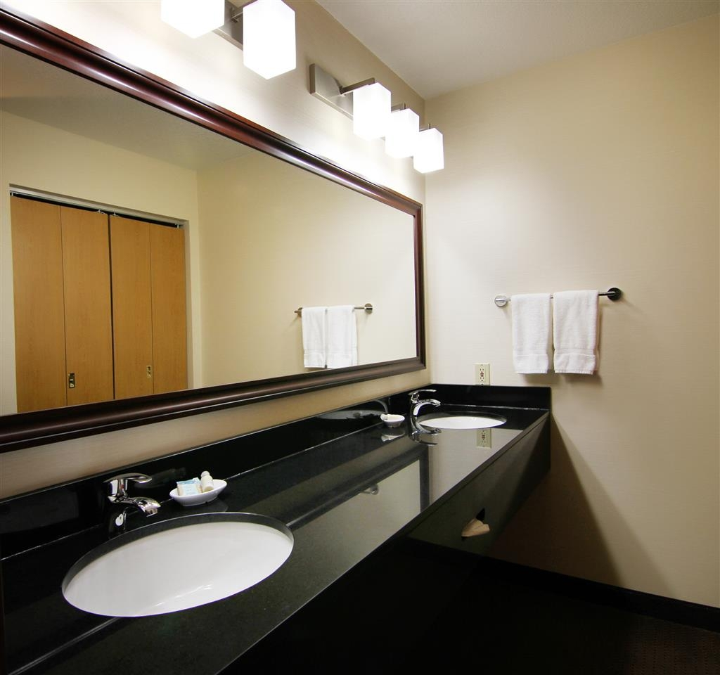 Best Western Plus City Center - Some suites have two bathrooms and lots of counter space!