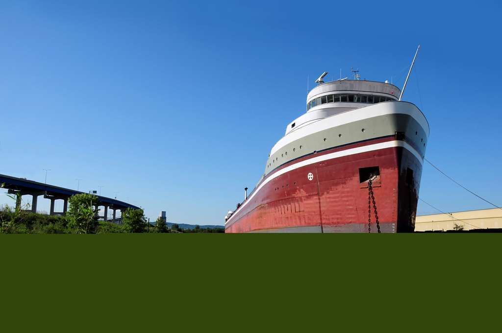 Best Western Bridgeview Hotel - Two ships anchored on Lake Superior off the Duluth-Superior Harbor.