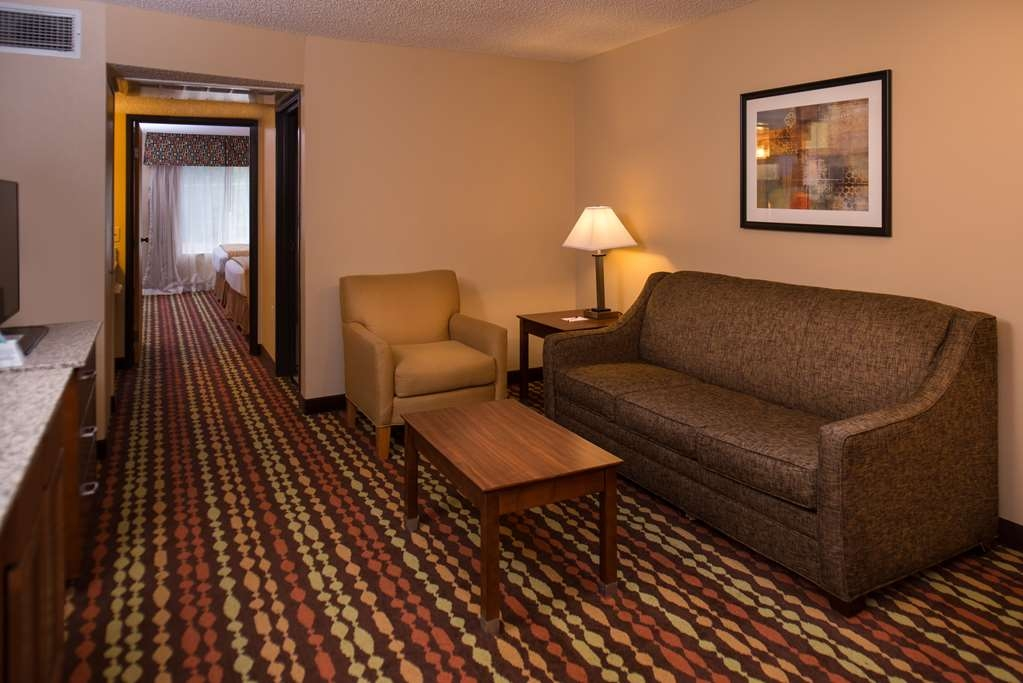 Best Western Ambassador Inn & Suites - There's room for 6 with 2 Queen Beds in a private bedroom and a Queen Sleeper Sofa.