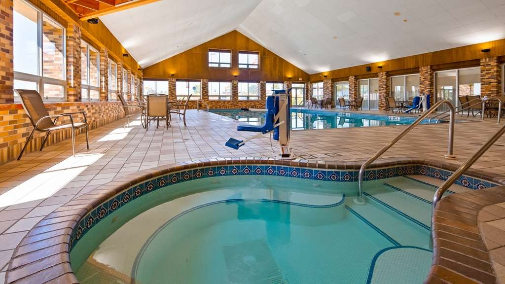 Best Western Tomah Hotel - We installed the ADA mobility accessible pool lift system to help those with disabilities not miss out on any of the action.