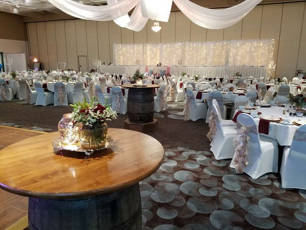 Best Western Premier Waterfront Hotel & Convention Center - The hotel's professional culinary and service team caters over 100 weddings annually! This photo is in the river view half of the Oshkosh Convention Center.