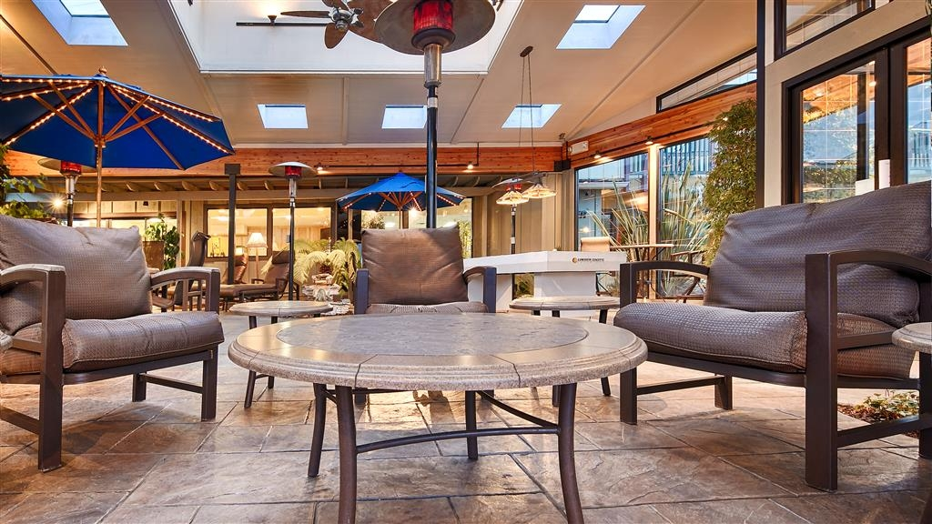 Best Western Plus Humboldt Bay Inn - Our indoor patio area is the perfect place to relax the stress from the day away.
