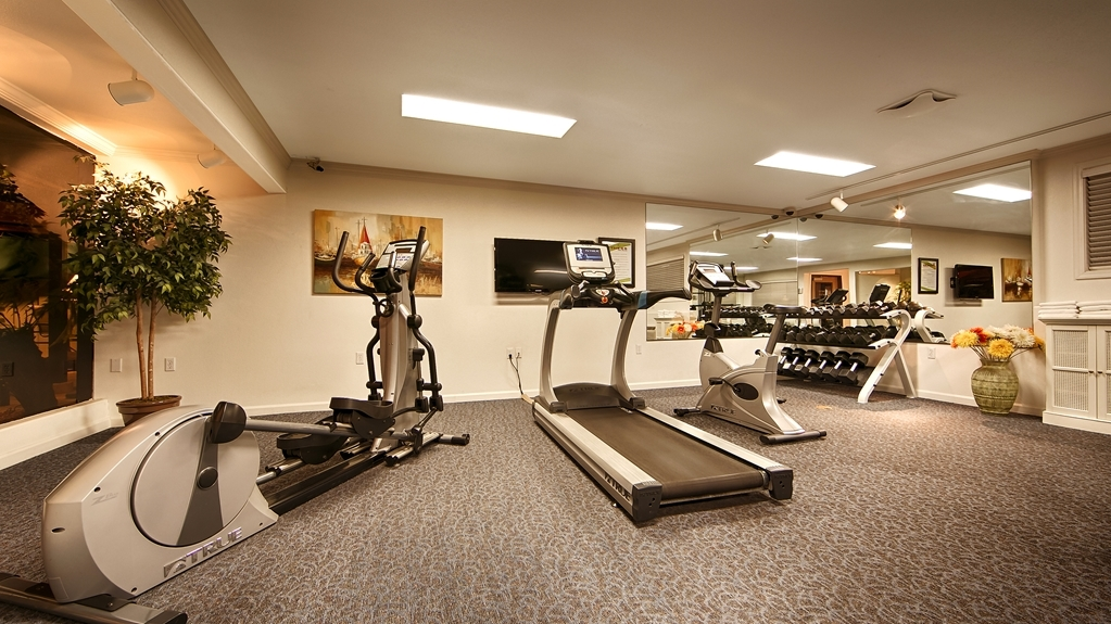 Best Western Plus Humboldt Bay Inn - Our fitness center is outfitted with everything you need for a great workout, including a treadmill, elliptical machine, stationary bicycle, dumbbells, 11 Station Workout Machine.